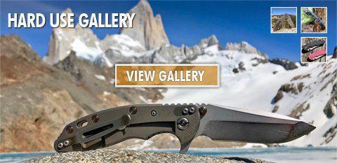 Rick Hinderer Knives user gallery of hard use knives